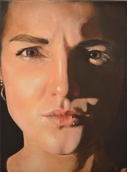 "Self Portrait Oil on Canvas 15.5"" x 12"""