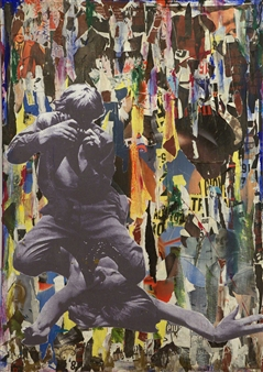 """Responso Collage on Canvas 55.5"""" x 38.5"""" x 2"""""""