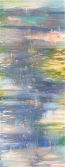"""Tranquil Mist Acrylic & Oil on Canvas 36"""" x 18"""""""