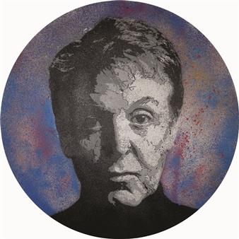 """Sir Paul Acrylic & Spraypaint on Canvas 23.5"""" x 23.5"""""""