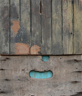 "Paesaggi in Allerta Meteo No 7 Left Down Mixed Media on Wood 16"" x 14"""