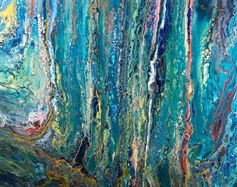 """Sea Magna Acrylic on Canvas 24"""" x 30"""""""