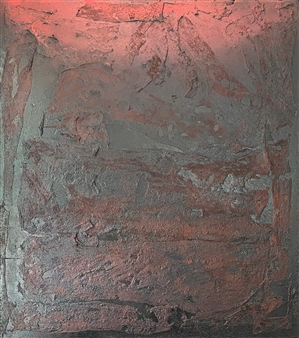 """Amarena Mixed Media on Industrial Substrate 49.5"""" x 44.5"""""""