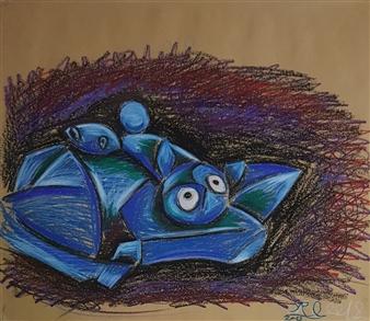 "Horse  (3) Colored-Pencil 18"" x 21"""