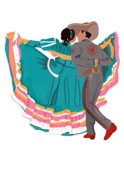 "Couple #2 Digital Illustration 5"" x 5"""