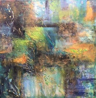 "Tranquility Acrylic & Mixed Media on Canvas 36"" x 36"""