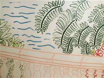"""Terraza Acrylic on Canvas 72"""" x 96"""""""