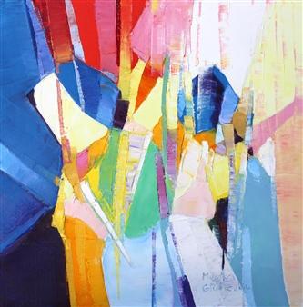 """The Clown Oil on Canvas 20"""" x 20"""""""