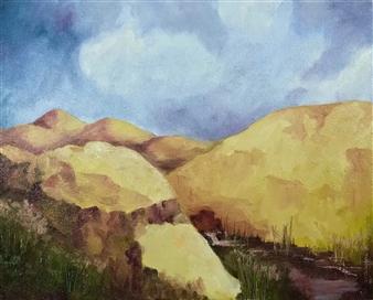 "Hidden Valley Print on Canvas 19"" x 16"""