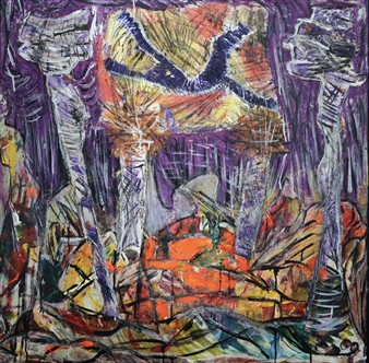 """Set Loose From Constraint Mixed Media on Canvas 37"""" x 37"""""""