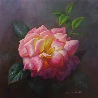 "Light Pink Oil on Canvas 15.5"" x 19.5"""