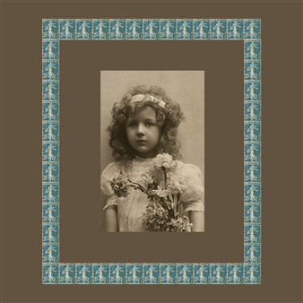 """Girl with Blue Stamps, circa 1920 Digital C-Print 20"""" x 20"""""""