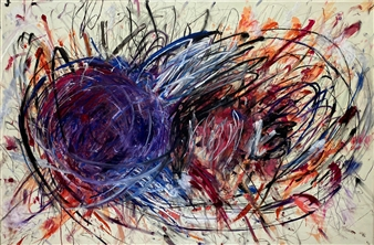 """You Tangle My Emotions Oil on Canvas 48"""" x 72"""""""