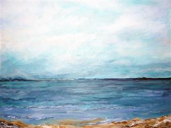 "Storm At Westward Ho! Acrylic on Canvas 18"" x 24"""