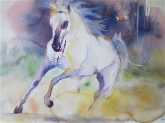 "I Dream Watercolor on Paper 25"" x 33.5"""