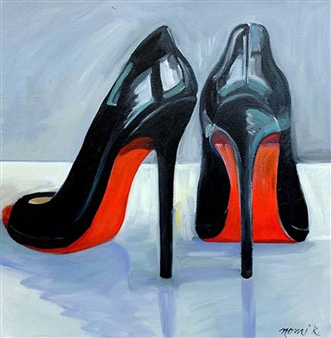 "I Heart My Black Louboutin Pumps Oil on Canvas 25.5"" x 25.5"""