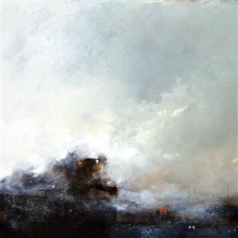 "Untitled I - Storm Studies Acrylic & Oil on Wood 24"" x 24"" x 1.5"""