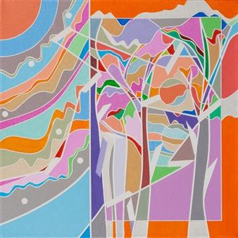 "Color Logic II / Orange Acrylic on Canvas 10"" x 10"""