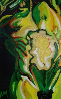 Green & Yellow Torso on Black