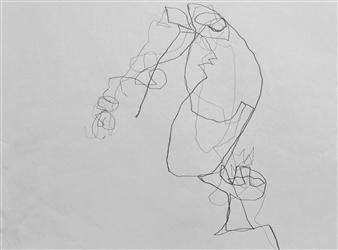 """VvA-N Pencil on Paper 12"""" x 16.5"""""""