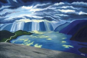 "Howe Sound Cloudbreak Oil on Canvas 24"" x 36"""