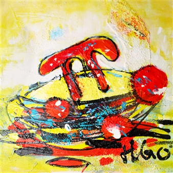 """The Great Journey of Pi 1 Acrylic on Canvas 20"""" x 20"""""""