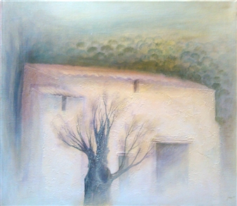 "La Bergerie Acrylic on Canvas 27.5"" x 31.5"""