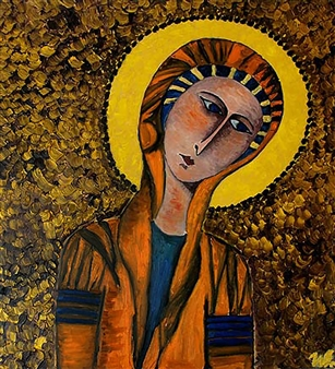 "Madonna Oil on Canvas 35.5"" x 31.5"""
