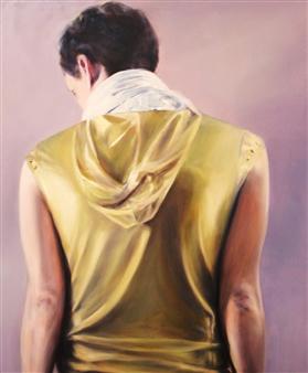 "The Golden Jacket Acrylic & Oil on Canvas 47.5"" x 39.5"""