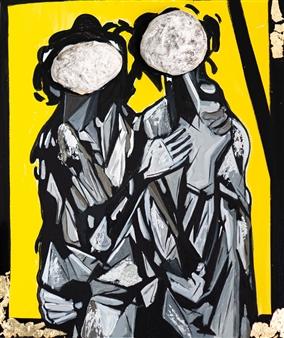"Memories of My Heart  (Yellow) Acrylic &  Mixed Media on Canvas 28"" x 20"""
