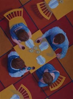 """Overlook #21 Table Talk Pastel on Board 24"""" x 18"""""""