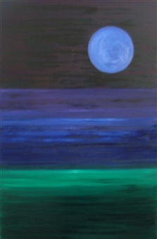 """Moonscape Oil on Canvas 60"""" x 48"""""""