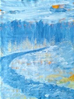 "Winter Evening No.2 Acrylic on Canvas 24"" x 18"""