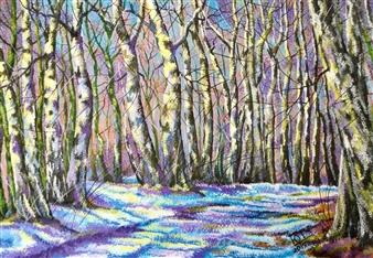 "Winter Acrylic on Canvas 20"" x 27.5"""