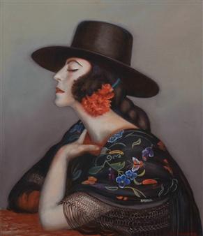 "La Cordobesa Oil on Canvas 27.5"" x 23.5"""