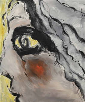 "01JAN Acrylic on Canvas 36"" x 30"""