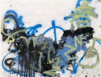 """Thur 2 Acrylic & Oil on Canvas 29.5"""" x 32"""""""
