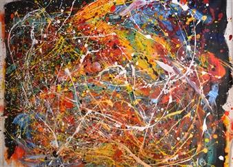 """Une Journée en Hivers Acrylic on Canvas 45"""" x 57.5"""""""