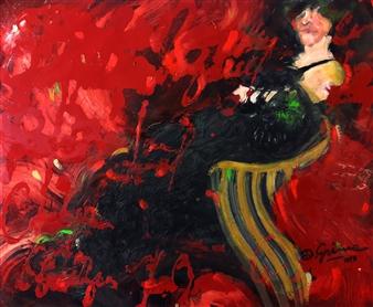 """Madame T.T. Oil on Fibra 29.5"""" x 36"""""""