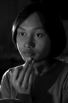 "face of woman op 3 Photogram-Lambda Print 100"" x 60"""