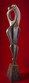 """Il Bacio  (El Beso)  (The Kiss) Bronze 71"""" x 16"""" x 11"""""""
