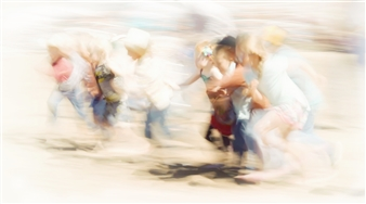 """The Run for the Boot Glossy Metal Print 48"""" x 86"""""""
