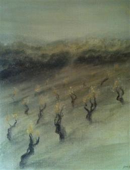 """La Vigne au Printemps Acrylic on Canvas 23.5"""" x 17.5"""""""