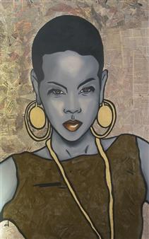 """Africa Oil & Acrylic on Canvas 40"""" x 22"""""""