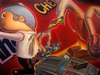 "Omega Man Oil on Canvas 36"" x 48"""