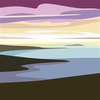 "The Labrador Coastline Digital Print on Paper 30"" x 30"""