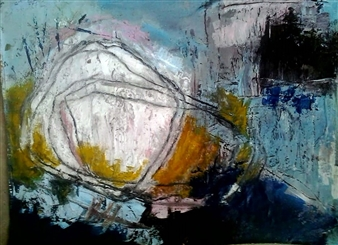 "Sin Titulo XL Acrylic on Canvas 43.5"" x 47.5"""