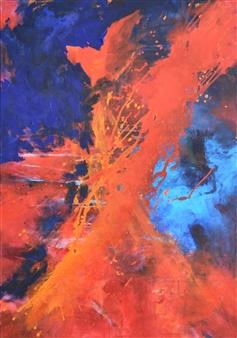"Sound of Music 1 Acrylic on Canvas 39.5"" x 28"""