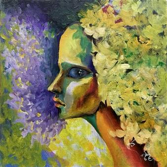 """Venus Oil on Canvas 9.5"""" x 9.5"""""""