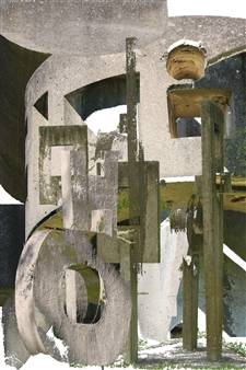 Cement Sculpture Abstract 26